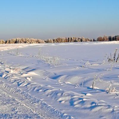 Снежное поле вблизи Великого Устюга